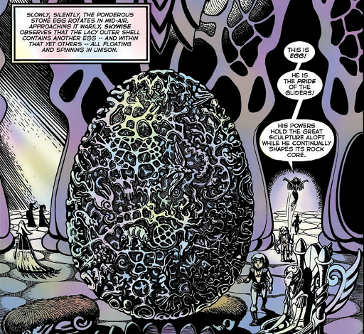 REFERENCE : MAGIC IN ELFQUEST P66_CombinedMagic_RockShaping_Levitation_Complex_Dedicated_MemoryEffect