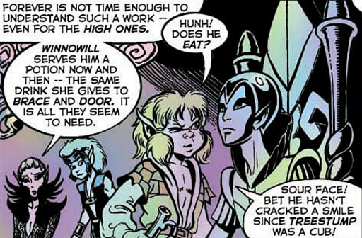 REFERENCE : MAGIC IN ELFQUEST P68_Semi-deadMagicalLethargyHelpedWithPotion