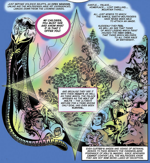 REFERENCE : MAGIC IN ELFQUEST P82_Sending_OpenSending_Vision