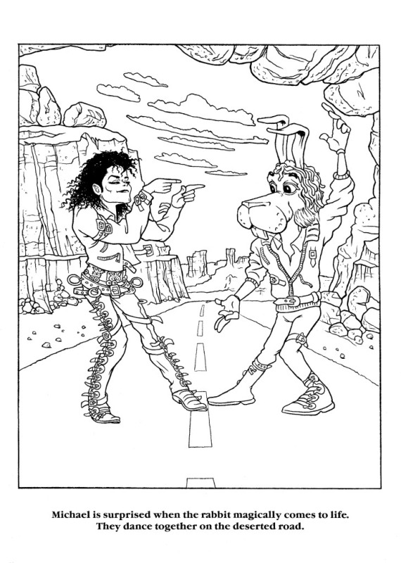 Moonwalker Coloring Book MJMoonwalkerCB10-1