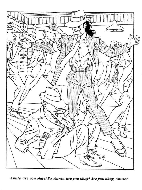 Moonwalker Coloring Book MJMoonwalkerCB23
