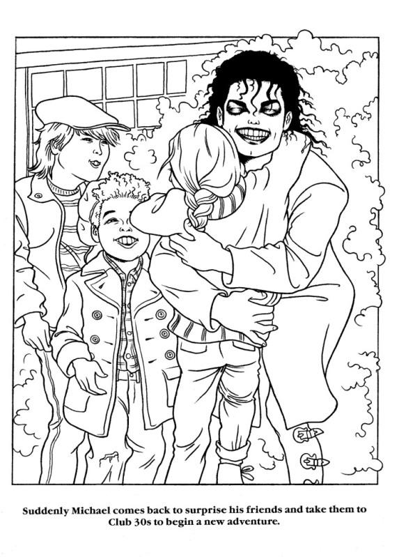 Moonwalker Coloring Book MJMoonwalkerCB30