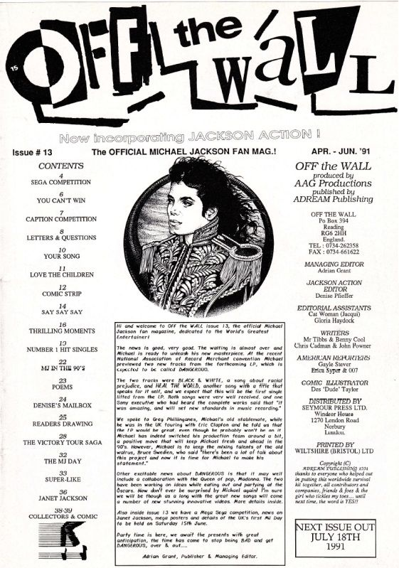 Off The Wall Issue 13- April-June 1991 OffTheWallIssue1303