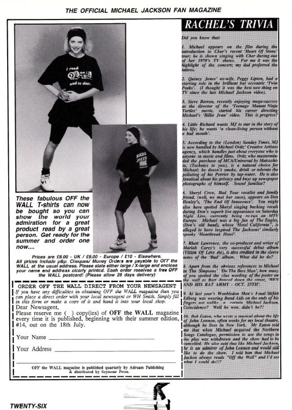 Off The Wall Issue 13- April-June 1991 OffTheWallIssue1324