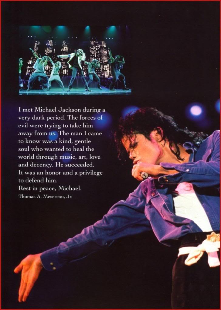 Michael Jackson Memorial Program Book Michaeljackson12