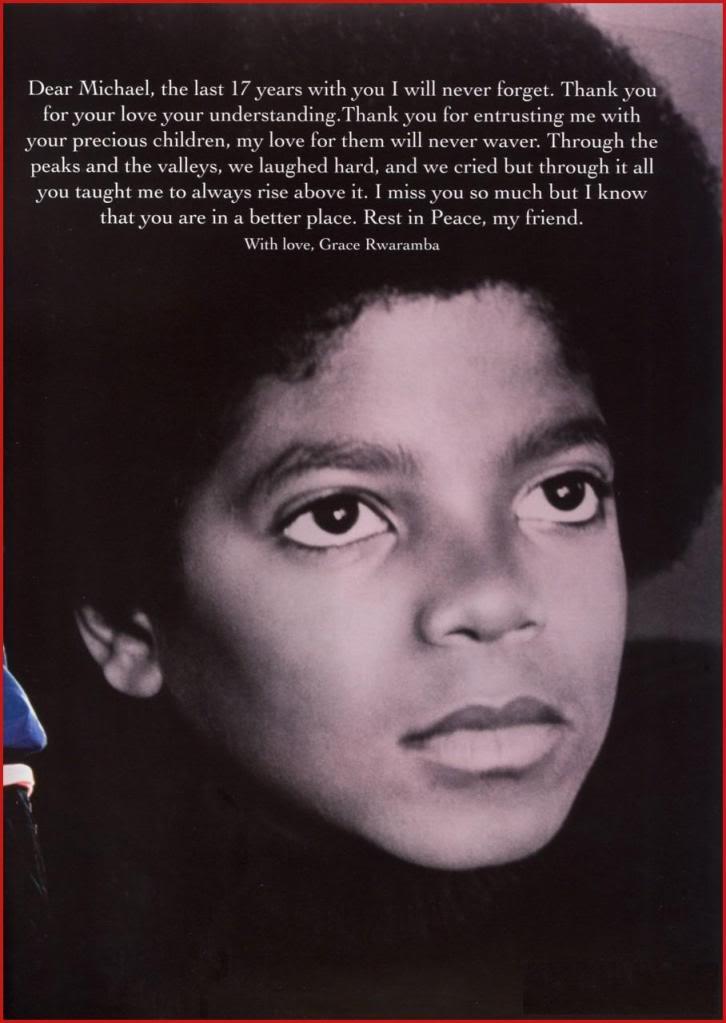 Michael Jackson Memorial Program Book Michaeljackson13
