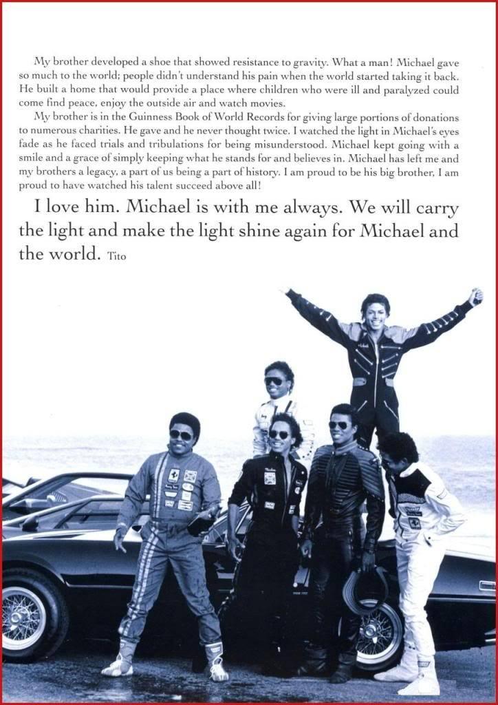 Michael Jackson Memorial Program Book Michaeljackson5