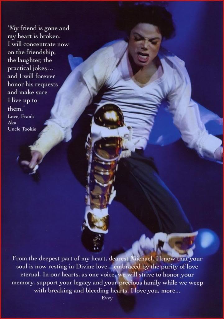 Michael Jackson Memorial Program Book Michaeljackson9