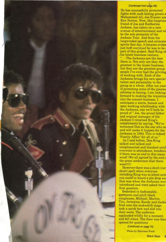 Black Beat 1984 Press Conference 01-26