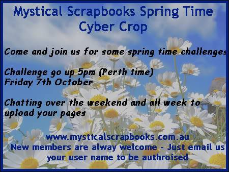 Mystical Scrapbooks October Cyber Crop 7th- SpringCCad