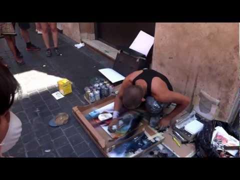 Bức họa từ sơn xịt ở Rome 0
