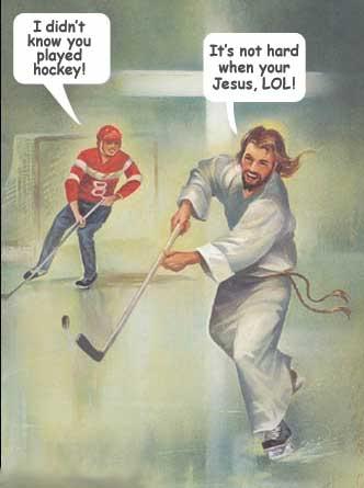Jesus plays hockey Jesus-lol3