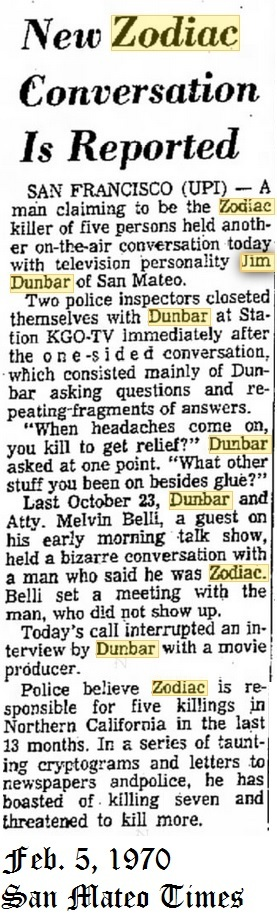 """Zodiac"" on Jim Dunbar's show and the Z/Belli connection Dunbar_zpsnisva8ia"