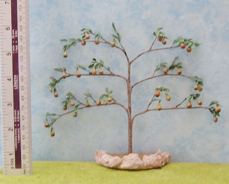 Pear,espaliers,model tree,dollshouse