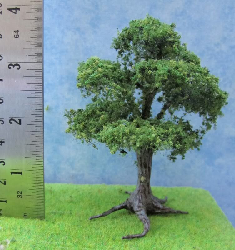 144th scale oak tree 1322s