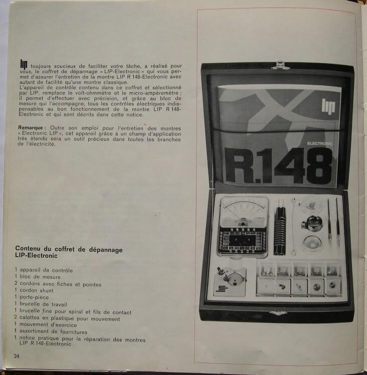 Quelques calibres Lip R148-24