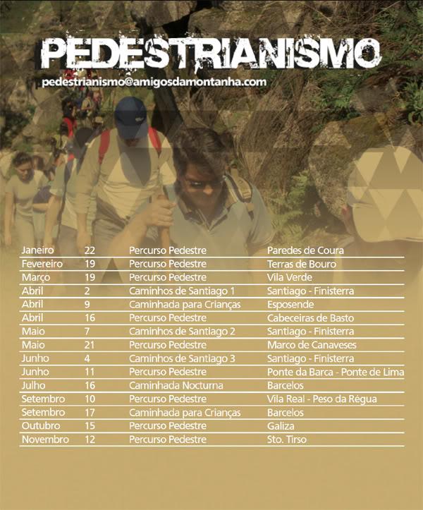 Actividades Pedestres para 2011 - Amigos da Montanha Amigos_da_Montanha