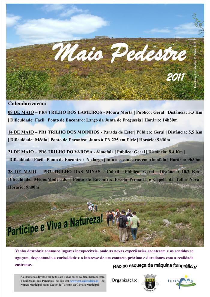 Castro - 2011/05/14 - PR1 Trilho dos Moinhos - Parada de Ester - Castro de Aire Cartaz_2011_05