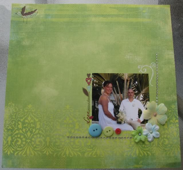 Défi de Juillet - Kim - Page minimaliste et pas de papiers! Photo246