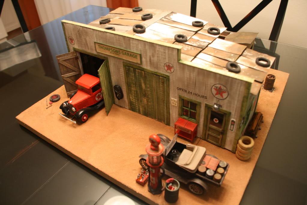 1930s Texaco Station Diorama Build Book