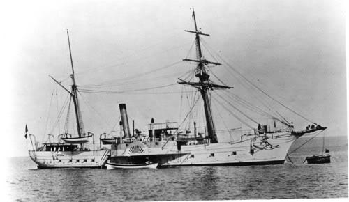 aviso PINGOIN 1886 1/350 Brandon_aviso_a_roues_1839_lorient_