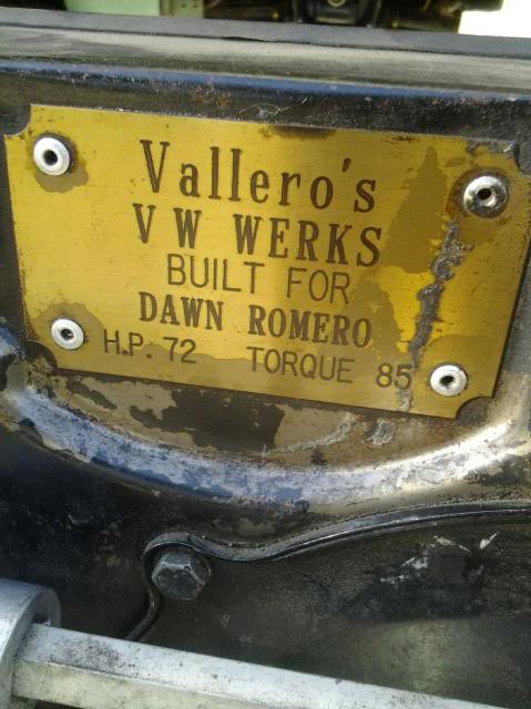 30 year old engine - built and rebuilt by Vallero's VW Werks 20130926_093934