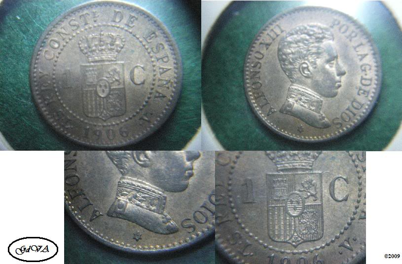 """I Concurso """"imperio numismático"""" MEJOR MONEDA. 1centimoAXIII"""