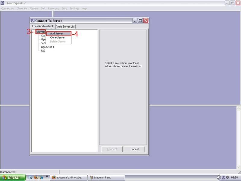 Tutorial como entrar em server no TS TeamSpeak Ts2