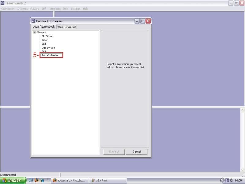 Tutorial como entrar em server no TS TeamSpeak Ts3