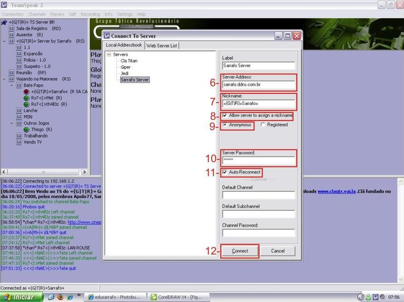 Tutorial como entrar em server no TS TeamSpeak Ts4-2