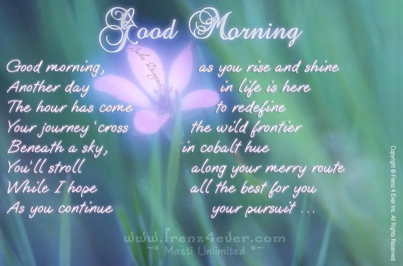 ~* Good Morning Dear Frenz *~ GM-frenz