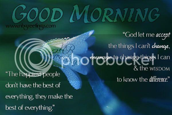 Good Morning dew flower card