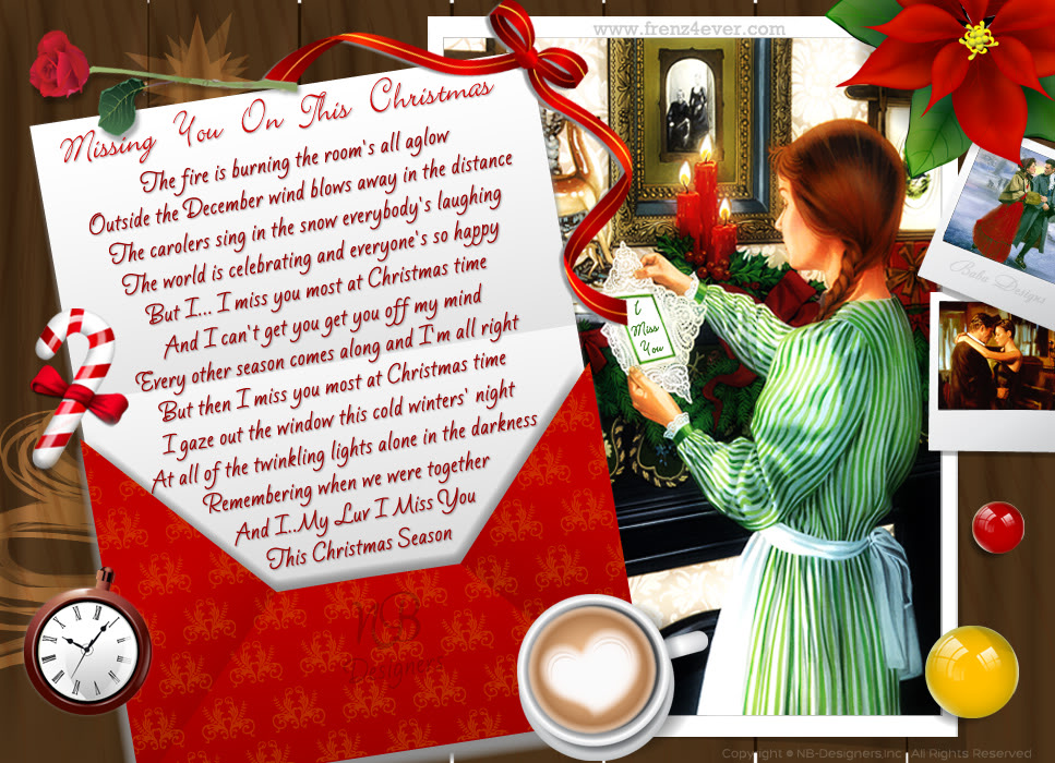 Romantic Christmas Cards Collection- By Baba Designs Missing-you-on-christmas