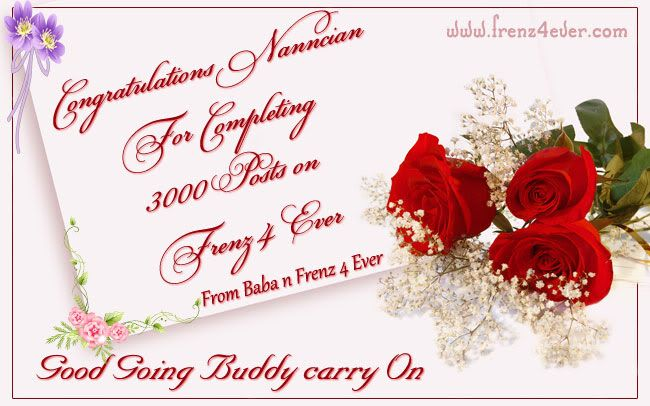 ~* Congratulations Nanncian For Completing 3000 + posts on Frenz 4 Ever *~ Congrats-1