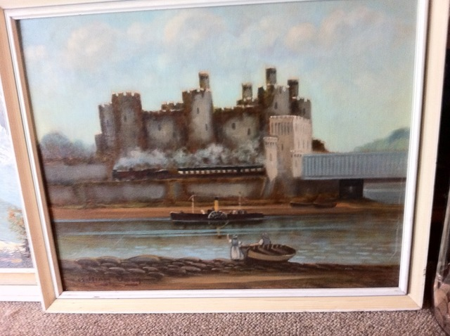 Oil signed William Owen Conwy Castle 061