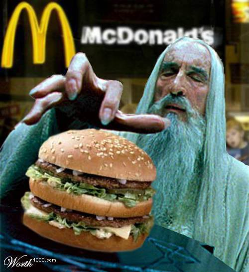 Lord of the Rings Humour: Parodies, Satires and More - Page 4 Saruman-BigMac