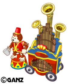 Circus Theme Items Circus-organ-grinder