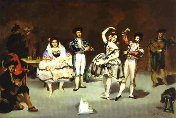 Manet - cha đẻ của nghệ thuật hiện đại EdouardManet-20TheSpanishBallet