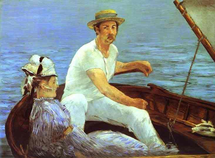 Manet - cha đẻ của nghệ thuật hiện đại EdouardManet-Boating