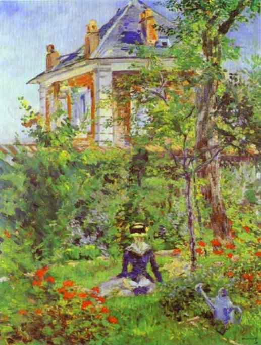 Manet - cha đẻ của nghệ thuật hiện đại EdouardManet-GirlintheGardenatBelle