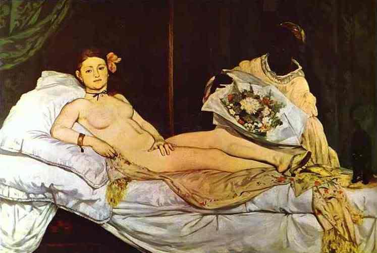 Manet - cha đẻ của nghệ thuật hiện đại EdouardManet-Olympia