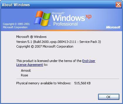Windows XP Professional Corporate Edition SP3 RTM + SATA Drivers 9tlgm0