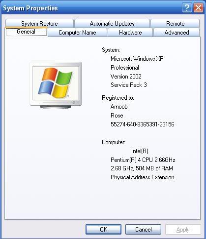 Windows XP Professional Corporate Edition SP3 RTM + SATA Drivers Rrl7np