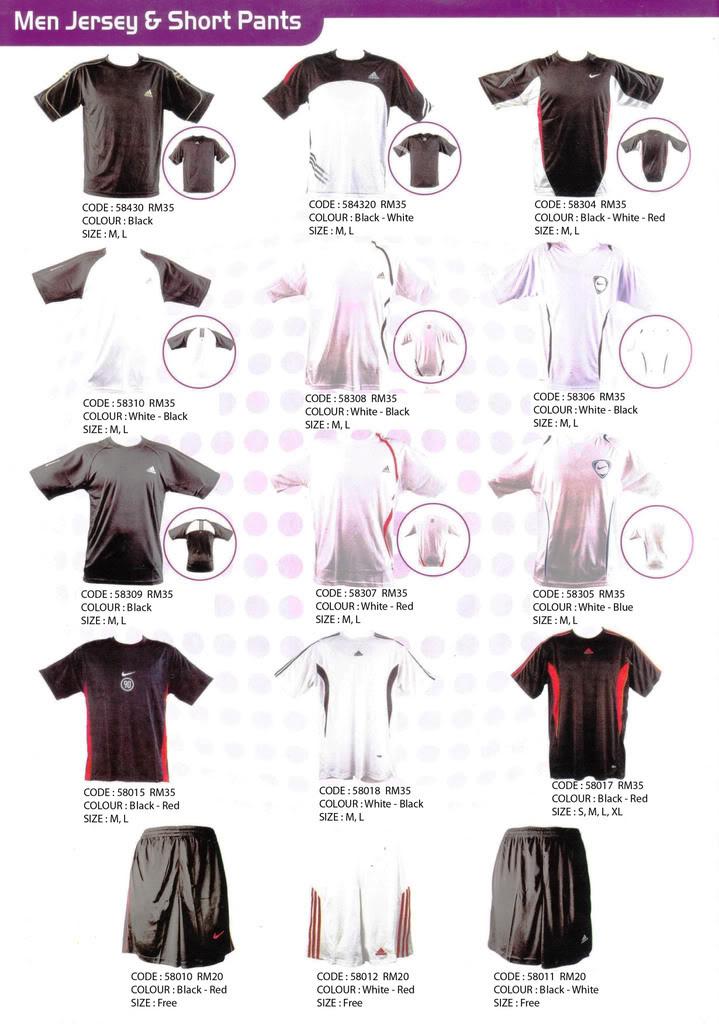 Pakaian, Kasut & Aksesori Lelaki, Wanita & Kanak2 Jersy-1