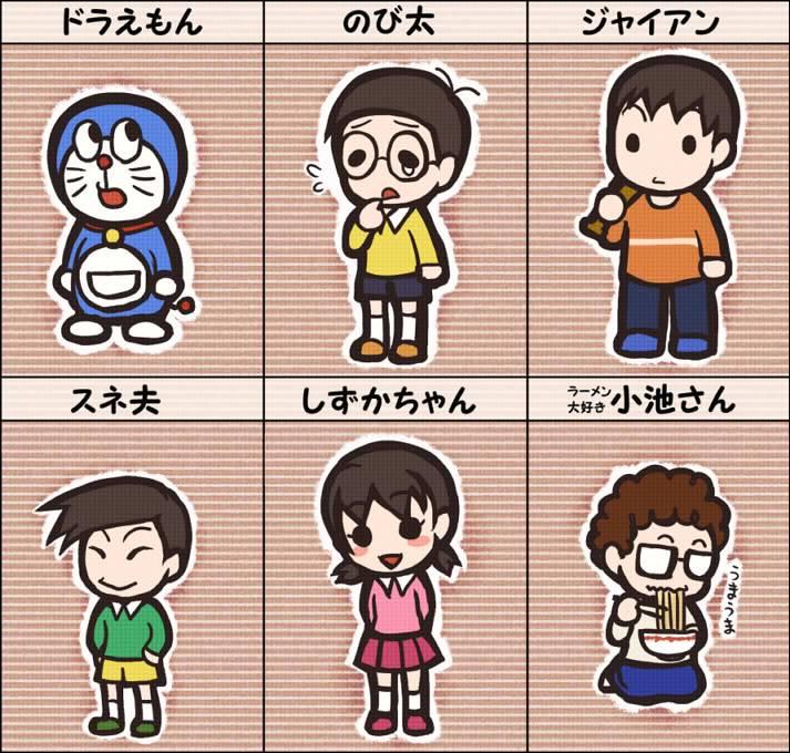Doraemon dưới các nét vẽ khác :d 3838954