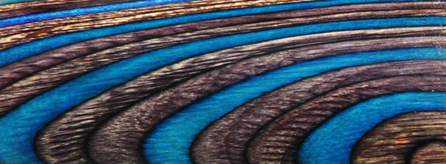 ColorWood, DiamondWood, and other specialty laminates. Electric_Blue_Laminate_Sample