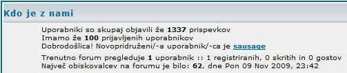 Naš forum OrlekNet ima že 500 registriranih uporabnikov! 100naforumu