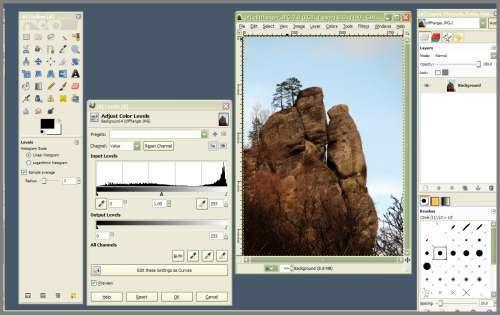 Brezplačni grafični & foto programi (za pregledovanje in obdelavo fotografij in slik) GIMPScrn_0