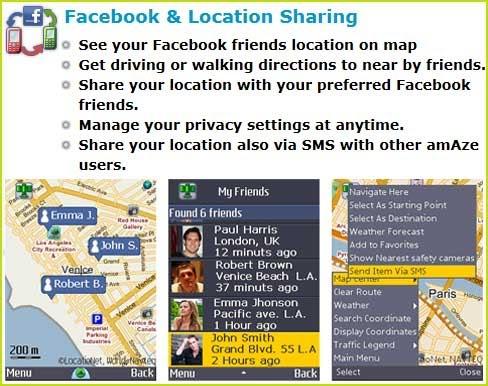 Zastonj GPS navigacija za telefone Amazefb
