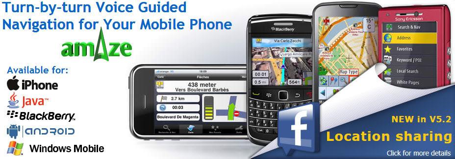 Zastonj GPS navigacija za telefone Amazegps3